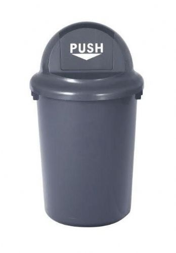 60 litre Plastic Push Bin with Hinged Lid
